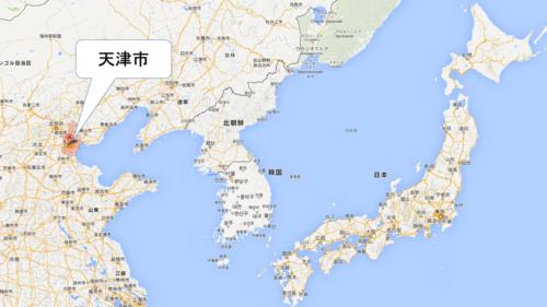 天津の位置
